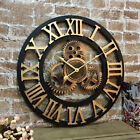 Handmade Wall Clock Large Gear Clock Vintage Rustic Wooden luxury art vintage