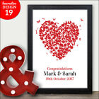 PERSONALISED Butterfly Heart Print Present Enagagement For Boyfriend Girlfriend