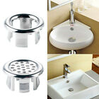 Sink Round Ring Overflow Spare Cover Tidy Chrome Trim Bathroom Ceramic Basin Uk