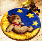 GEX NEW Latch Hook Kit Rug About 19.6Inch Cushion DIY Craft Needle Embroidery