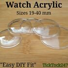 Domed Acrylic Watch Crystal Glass Face Lens Replacement Sizes 19.00mm -  40.00mm