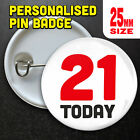Age Today Personalised Badges