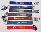 "NFL Wristlet Key Chains 8.5"" Long .75"" Wide Made by Aminco Select Team Below on eBay"