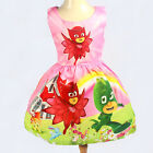 PJ MASKS girls party vintage dress PJMAKS sleeveless print size 2-6 xmas