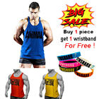 Mens Athletic Animal Muscle Fitness Workout Gym Undershirts Training Tank Tops
