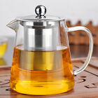 750/950ml Stainless Steel Clear Glass Infusion Tea Pot Tea Leaf Infuser Teapot