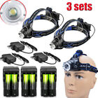 Rechargeable 30000LUMENS XML T6 LED Headlamp Flashllight +Charger+18650 USA