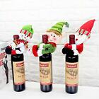 Christmas Santa Snowman Elf Wine Bottle Cover Table Party Decor Wrap Ornaments N