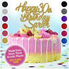 Personalised Happy Birthday Cake Topper ANY Name with ANY AGE Cake Decoration
