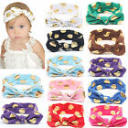Baby Girls Kids Turban Knot Rabbit Headband Bow Hairband Headwear Hair Accessory