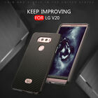Aluminum Metal Frame Carbon Fiber Hard Shockproof  Case Cover For LG G6 V10 V20