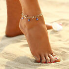 Fashion Jewelry 925 Silver Or Gold Plated Turkish Evil Eye Beads Anklet 40-4 image