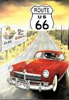 "Retro Metal Plaque: Route"" 66"" Sign/ad"