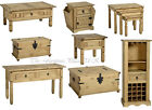 Corona Solid Waxed Pine Coffee Lamp Console Nest Table Chest Wine Rack