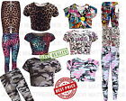 Young Girls Printed Crop Trendy Top & Stylish Fashion Legging 2 Pc Outfit Set