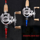Baitcasting Fishing Rod with Reel Combos Set Saltwater Freshwater Gear Tool Kits