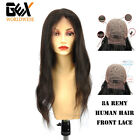 GEX 8A Front Lace Wig Unprocessed Brazilian Human Remy Hair Glueless Baby Hair