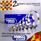 SAMCO RADIATOR THERMOSTAT BYPASS HOSE STAINLESS JUBILEE CLIP CLAMP KIT CK DUC-18