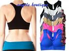 LOT OF 6 SOFRA SEAMLESS RACERBACK  YOGA SPORTS BRA  WIDE STRAP PADDED
