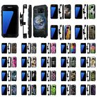For Samsung Galaxy [S7] Armor Case [Kickstand] [Holster] [Screen Protector] - H