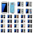 For Samsung Galaxy [S7] Shock Absorbent Dual Armor Case [Screen Guard]Design [I]