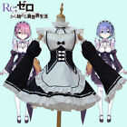 Re Zero Kara Hajimeru Isekai Seikatsu Twins Ram Rem Maid Dress Cosplay Costumes