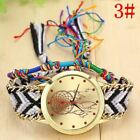 Vintage Women Native Handmade Quartz Watch Knitted Dreamcatcher Watch