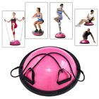 """23"""" Yoga Half Ball Exercise Trainer Fitness Balance w  Pump Strength Gym Workout"""