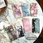 Granite Marble TPU Silicone Soft Phone Case Cover Skin for iPhone 6 6S 7 Plus