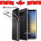 For Samsung Galaxy Note 8 Soft Gel Ultra Clear Transparent Case Cover