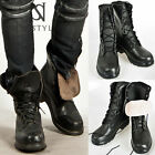 NewStylish Mens Shoes Half-handmade Durable Badass Cowhide Military Boots