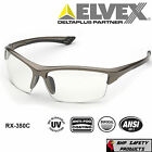 ELVEX SONOMA RX-350C BIFOCAL SAFETY GLASSES CLEAR ANTI-FOG LENS Z87+ (1.0-3.0)