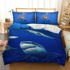 Shark Duvet Quilt Doona Cover Set King Single Queen Size Animal Bed Covers Linen