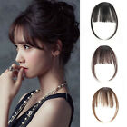 Black/Brown Clip in Front Bangs Straight Human Hair Bangs Extension Hairpiece