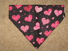 Valentine Hearts Dog Bandana - assorted designs - 5 sizes XS-XL