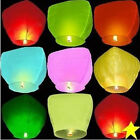 New 30x Wishing Lantern Chinese Paper Sky Floating Wedding Flying Party Lamp