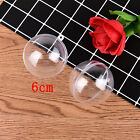 2pcs Transparent Ball Xmas Gift Wrapping Wedding Ornament Box Candy Party Box