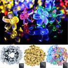 Solar Outdoor Christmas String Lights 21ft 50 LED Fairy Flower Blossom Light