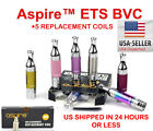 ET-S Tank BVC GLASS TANK+ 5pack authentic replacement  coils Aspire - US SELLER