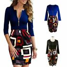 Women V-neck Knit Pencil Dress Bodycon Slim Party Formal Business Sexy Midi Dres