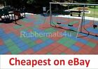 BEST CHEAPEST Black Green Blue Teracotta Grey Playground Rubber Safety Tile Mats