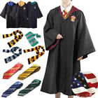 Ravenclaw Wizard Witch Robe Cloak Adult Child Costume Cape Tie Scarf Glasses Set