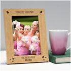 Today My Bridesmaid Forever My Friend ENGRAVED PERSONALISED Frame Thank You Gift