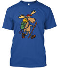 funny moose pictures - Funny Hiking Moose Premium Tee T-Shirt