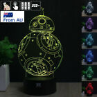 Star Wars BB-8 DROID 3D LED Night Light 7 Colour Touch Table Desk Art Lamp Gift $24.98 AUD