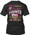 perfect girlfriend gift - Perfect Gift For A Farmers Girlfriend - Proud Of Freakin Premium Jersey V-Neck