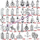 38style- Silver Oyster Pearl Cage - Christmas Tree Santa Claus Snowman Footprint