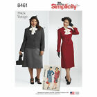 Simplicity Sewing Patterns Misses' Retro Vintage 1930s 1940s Dresses Aprons Tops