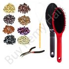 Hair Extension Silicone Micro Rings Kit 1 Pliers / Looper / Brush 100pcs 5mm