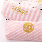 Pink Cute Canvas New Pencil Case Makeup Pouch Stationery Pen